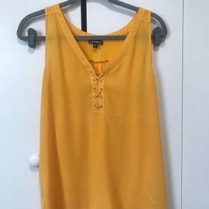 Yellow blouse tank